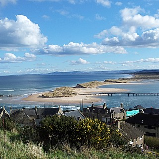 View over Lossiemouth East Beach - The Jewel of Moray