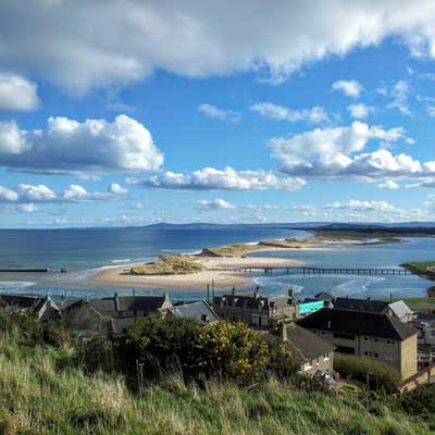 View of Lossiemouth West Beach