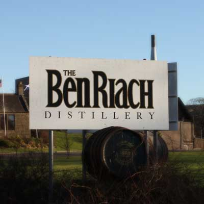 Ben Riach Distillery Sign